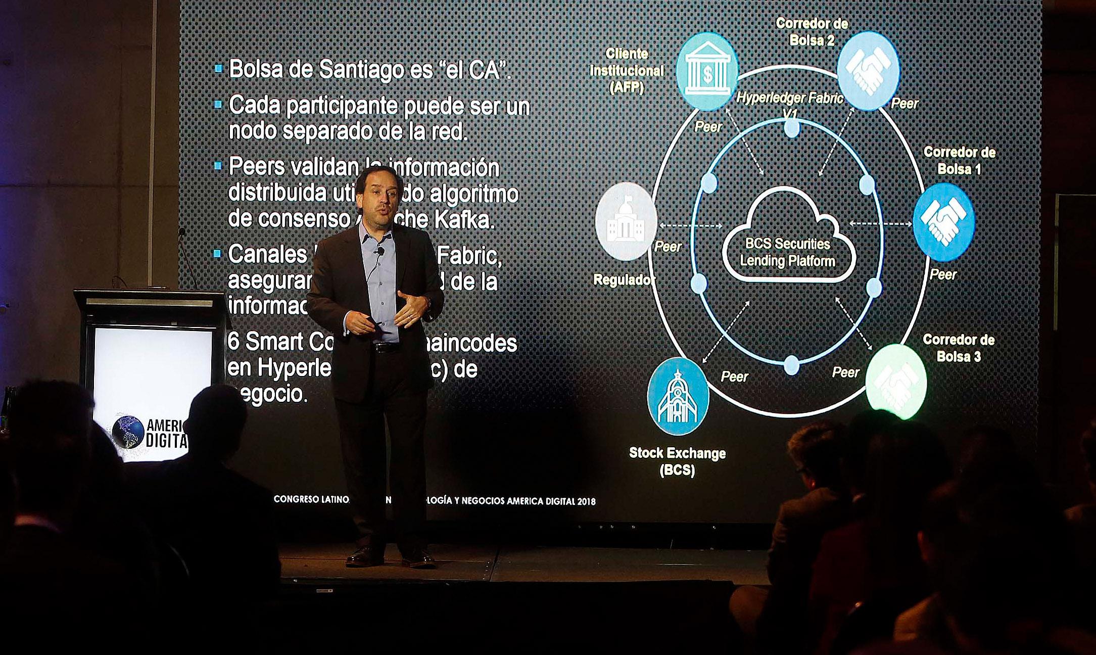 Caso de éxito primera aplicación blockchain en mercado de valores de Latam Conferencia CIO Bolsa de Santiago